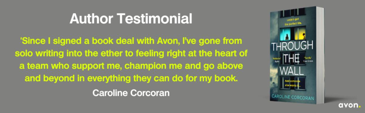 Caroline Corcoran Author Testimonial