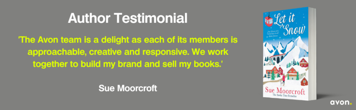 Sue Moorcroft Author Testimonial