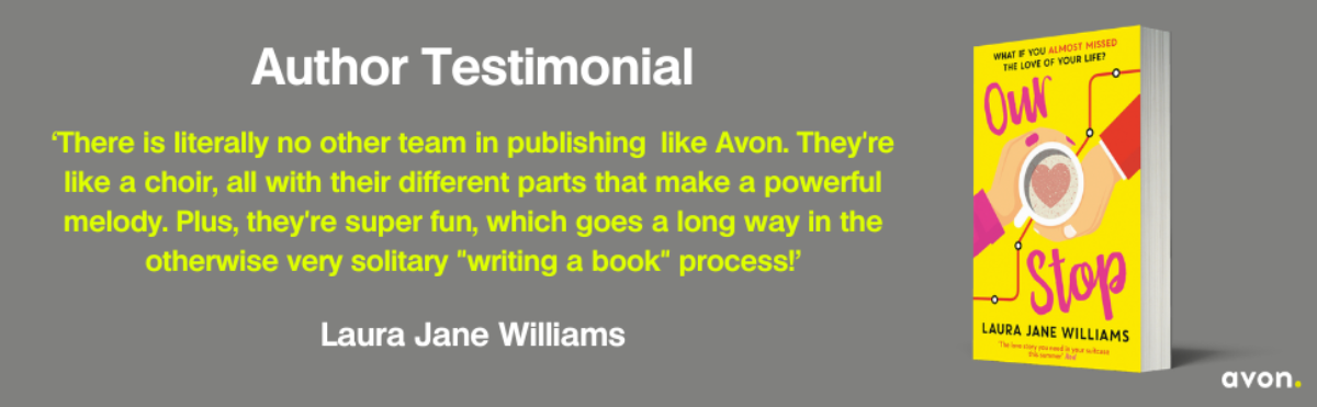 Laura Jane Williams author testimonial