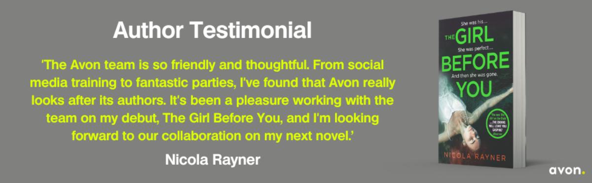 Nicola Rayner Author Testimonial